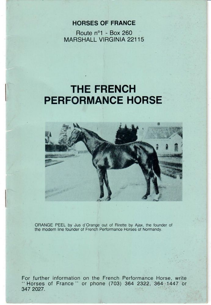 The French Performance Horse. Horses of France, farm.