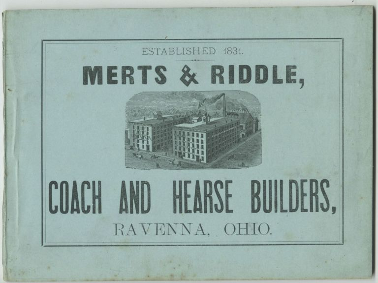 Catalogue. Merts, Coach Riddle, Hearse Builders.
