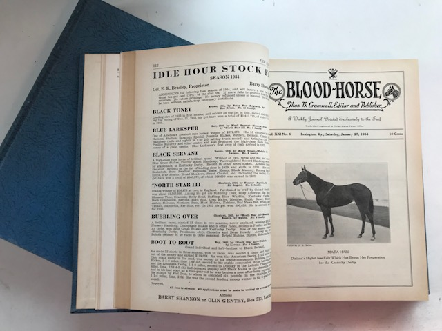 The Blood-Horse [1934 complete]. Thomas B. Cromwell, ed.