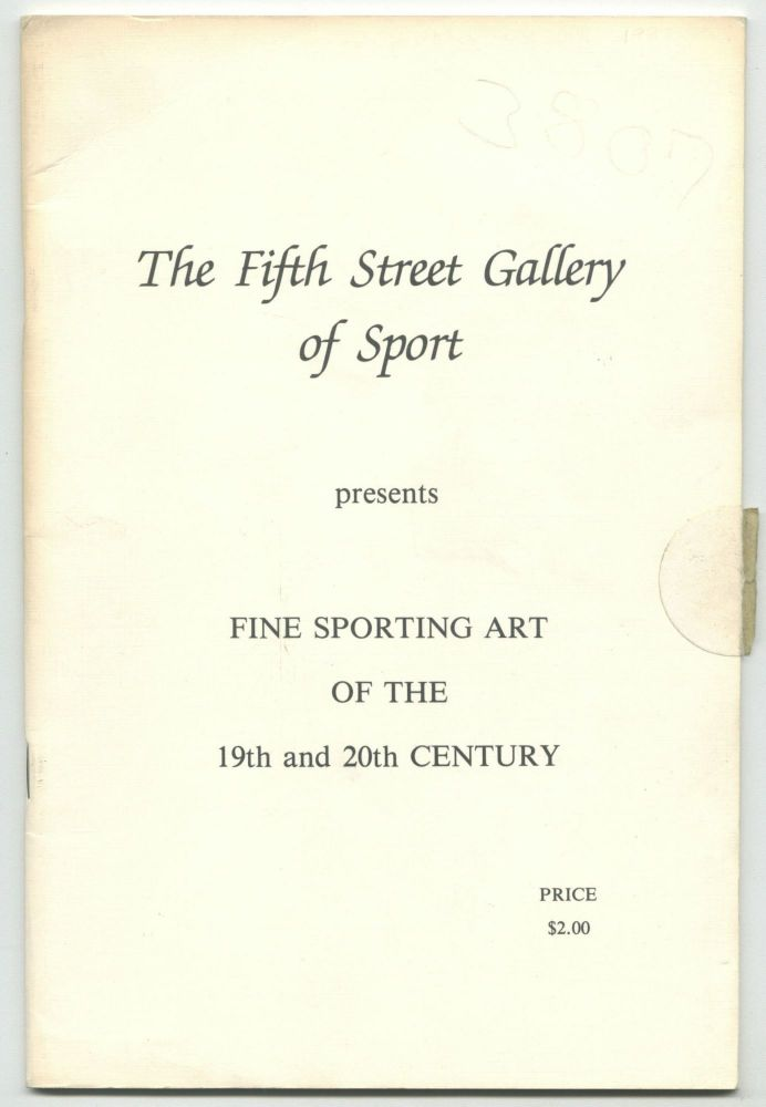 Fine Sporting Art of the 19th and 20th Century. Fifth Street Gallery of Sport.