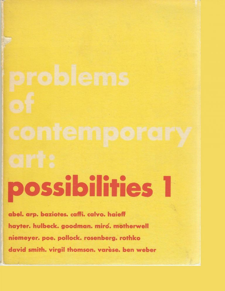 Possibilities 1; An Occasional Review [Problems of Contemporary Art]. Robert Motherwell, eds.