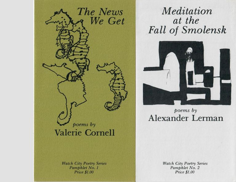 The News We Get; Meditation at the Fall of Smolensk; In Another Life; Purgatory [4 poetry chapbooks]. Valerie Cornell, Alexander Lerner, Helena Minton, Kathryn Eberly.