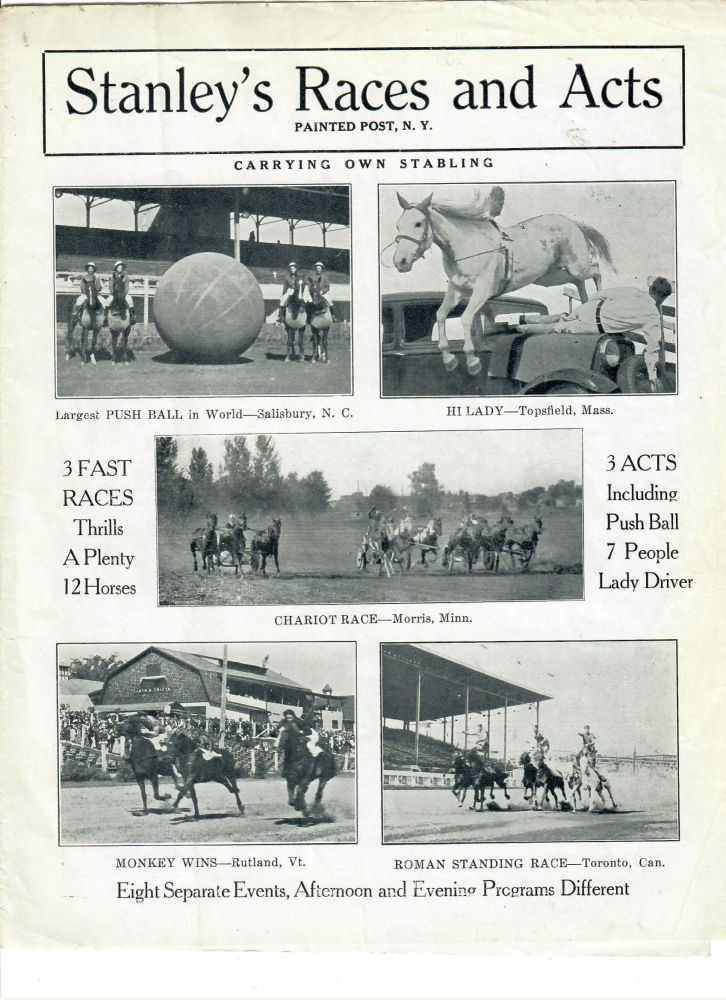Stanley's Races and Acts; Carrying Own Stabling -- Eight Separate Acts. Frank Stanley.