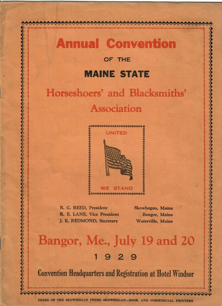 Annual Convention [1929]. Maine State Horseshoers, Blacksmiths Association.