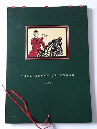 Paul Brown Calendar 1946 [signed, with 4 pencil sketches]. Brooks Brothers