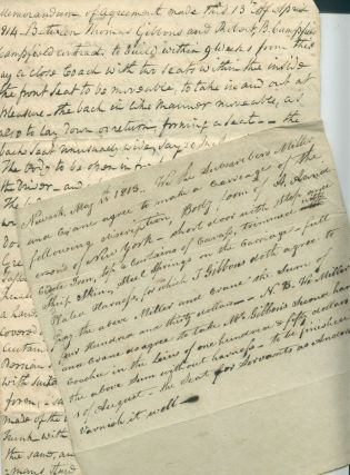 Two Early 19th-Century Manuscript Orders for Carriages, Newark, NJ. Thomas Gibbons, buyer of coaches