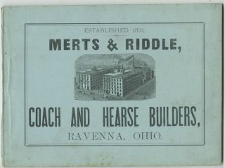Catalogue. Merts, Coach Riddle, Hearse Builders