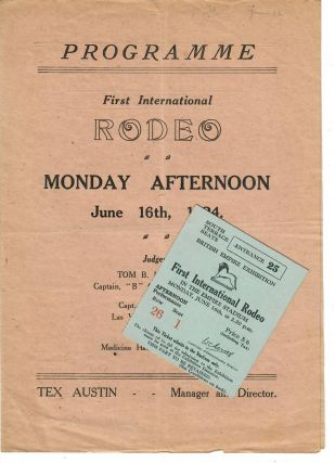 First International Rodeo or Cowboy Championships program [and] El Rodeo by Simpson