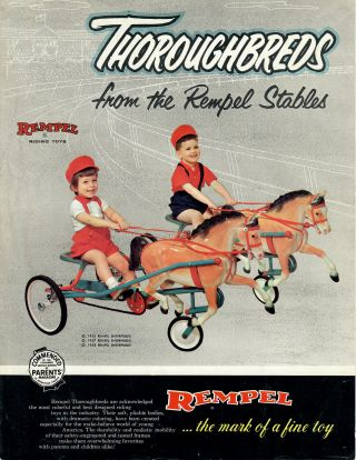 Thoroughbreds from Rempel Stables. Rempel Riding Toys