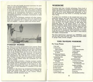 Handbook; What Young People Should Know . . . Before Traveling to Europe